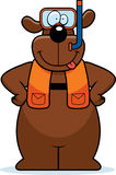 Cartoon Dog Snorkeling Stock Images