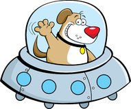 Cartoon dog in a spaceship Royalty Free Stock Photos