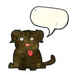 cartoon dog with speech bubble Royalty Free Stock Photography