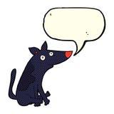 Cartoon dog with speech bubble Royalty Free Stock Photo