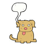 Cartoon dog with speech bubble Royalty Free Stock Images