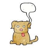 Cartoon dog with speech bubble Stock Photography