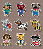 Cartoon dog stickers Stock Image