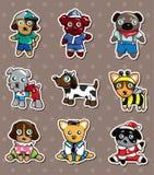 Cartoon dog stickers. Cartoon vector illustration Stock Image