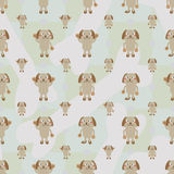 Cartoon dog symmetry bone seamless pattern Royalty Free Stock Photo