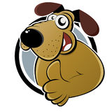 Cartoon dog with thumb up Stock Photography