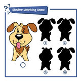 Cartoon dog. Vector illustration of educational shadow matching game with cartoon dog for children Royalty Free Stock Image