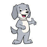 Cartoon Dog. Vector illustration of a funny  smiling dog Stock Photo
