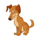 Cartoon Dog. Vector image of an cartoon brown dog Royalty Free Stock Images