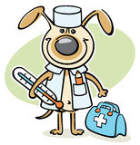 Cartoon dog - veterinarian doctor Royalty Free Stock Photos