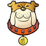 Cartoon dog winner Stock Images