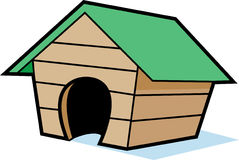 Cartoon doghouse. Cartoon illustration of a doghouse vector illustration