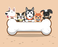 Cartoon dogs with big bone Royalty Free Stock Photography