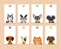 Cartoon dogs card template Stock Photos