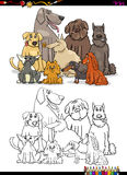 Cartoon dogs coloring book Royalty Free Stock Images