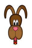 Cartoon dogs head illustration Stock Photography