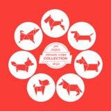 Cartoon dogs icon set royalty free illustration