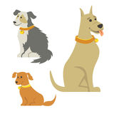 Cartoon Dogs. Illustration of cartoon dogs. EPS 10, no transparencies Royalty Free Stock Image