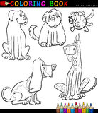 Cartoon Dogs or Puppies for Coloring Book Royalty Free Stock Images