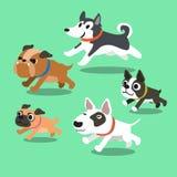 Cartoon dogs running Royalty Free Stock Image