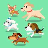 Cartoon dogs running Stock Image