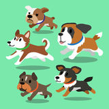 Cartoon dogs running. For design Stock Photography