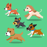 Cartoon dogs running Royalty Free Stock Photography