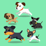 Cartoon dogs running. For design Royalty Free Stock Image