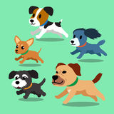 Cartoon dogs running. For design Royalty Free Stock Images