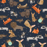 Cartoon dogs seamless pattern Royalty Free Stock Photography
