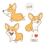 Cartoon dogs set. Stock Image