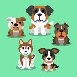 Cartoon dogs. Set for design Royalty Free Stock Photos