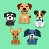 Cartoon dogs. Set for design Stock Images