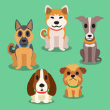 Cartoon dogs. Cartoon sitting dogs for design Stock Image