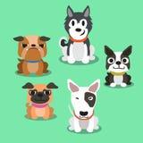 Cartoon dogs standing Royalty Free Stock Photos
