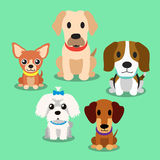 Cartoon dogs standing Royalty Free Stock Image