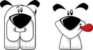 Cartoon dogs Stock Images