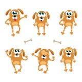 Cartoon dogs - vector set. Isolated illustration Stock Image