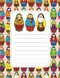 Cartoon doll card Stock Images