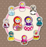 Cartoon doll card Royalty Free Stock Photo