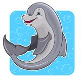 Cartoon dolphin Stock Photos