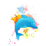 Cartoon Dolphin Stock Images