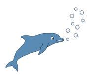 Cartoon dolphin Stock Photo