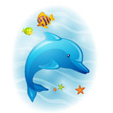 Cartoon Dolphin Royalty Free Stock Photography