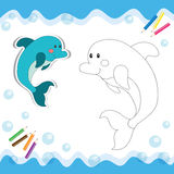 Cartoon dolphin Stock Photography