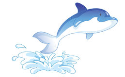 Cartoon dolphin jumping Stock Image