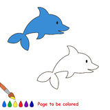 Cartoon dolphin to be colored Royalty Free Stock Photos