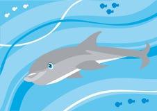 Cartoon dolphin underwater Stock Images