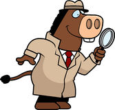 Cartoon Donkey Detective Royalty Free Stock Image