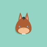 Cartoon donkey face Royalty Free Stock Photo